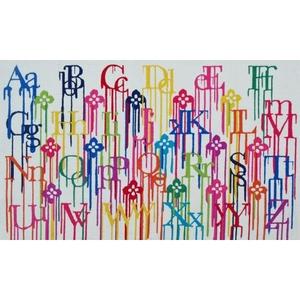 Alphabet Rainbow Indoor / Outdoor Rug