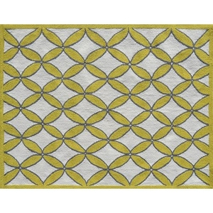 Diamonds Yellow Indoor / Outdoor Rug - 7X10