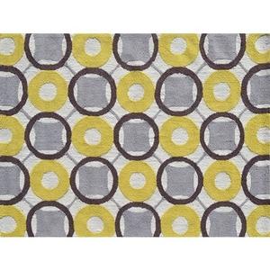 Rounders Yellow Indoor / Outdoor Rug - 5X7