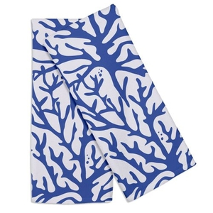 Coral Cobalt Hand Towel (Set Of 2)