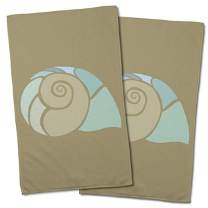 Andros Nautilus Shell Hand Towel (Set Of 2)