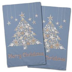 Seashell Christmas Tree Hand Towel (Set Of 2)