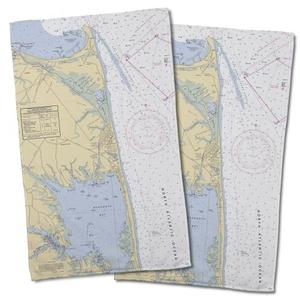 De: Rehoboth Beach, De Nautical Chart Hand Towel (Set Of 2)