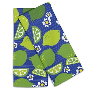 Limes & Daisies Hand Towel (Set Of 2)