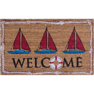 Nautical Welcome Coco Doormat