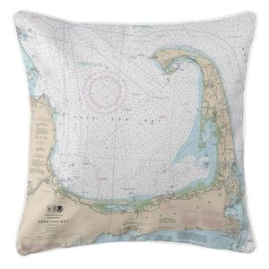 Cape Cod, Massachusetts Nautical Chart Pillow