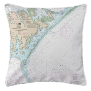 Portsmouth Island To Beaufort, North Carolina Nautical Chart Pillow