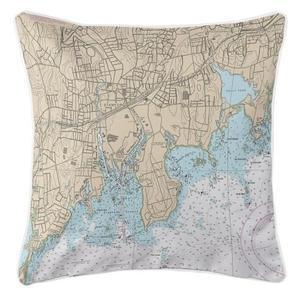 Stamford, Connecticut Nautical Chart Pillow
