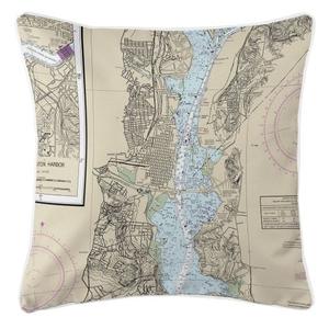 Alexandria, Virginia Nautical Chart Pillow