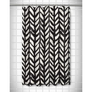 Grand Bahama - Drifter Black Shower Curtain