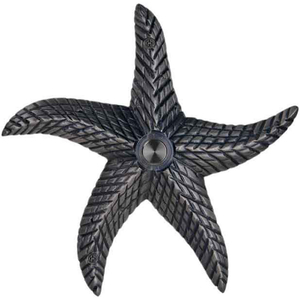 Brass Starfish Doorbell in Pewter