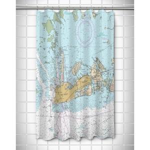 Fl: Key West, Fl Nautical Chart Shower Curtain