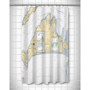 Ma: Martha'S Vineyard, Ma Nautical Chart Shower Curtain