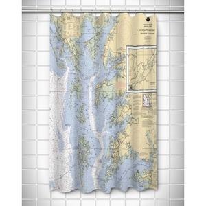 Md-Va: Chesapeake Bay, Md-Va Nautical Chart Shower Curtain