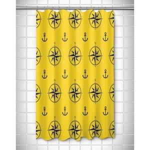 Duck Key - Compass Rose Shower Curtain