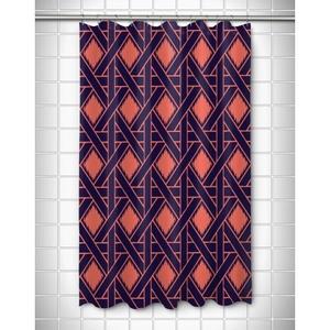 Key Largo - Passport Coral & Navy Shower Curtain