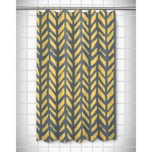 Grand Bahama - Drifter Gray & Yellow Shower Curtain