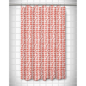 Doughnuts Coral Shower Curtain