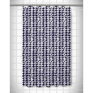 Doughnuts Navy Shower Curtain