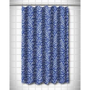 Hipster Cobalt Shower Curtain