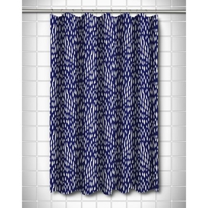 Hipster Navy Shower Curtain