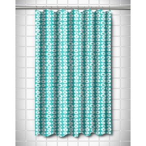 Doughnuts Aqua Shower Curtain