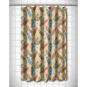 Beach Flip Flops Shower Curtain
