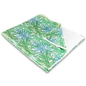 Palm Springs Green & Blue Fleece Throw Blanket