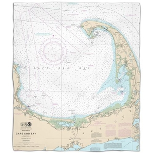 Ma: Cape Cod, Ma Nautical Chart Fleece Throw Blanket