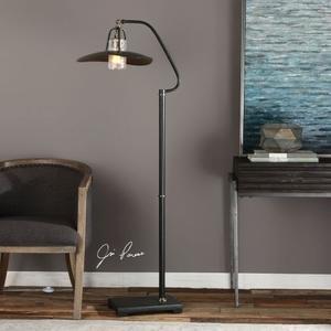 Arkutino Black Iron Floor Lamp