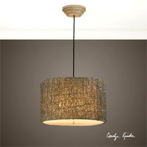 Knotted Rattan Light, Hanging Shade