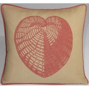 Sea Heart Linen Pillow