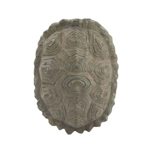 Cretaceous Turtle Shell Wall Decor, Ossified Grey