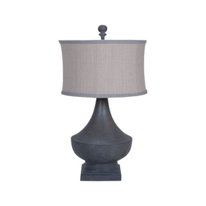 Vintage Table Lamp In Heritage Grey Stain