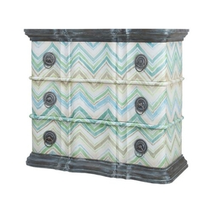 Harmony Classic Chest In Waterfront Grey Stain No.4 And White Wash