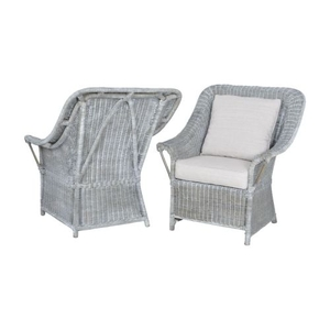 Retreat Chairs In Waterfront Grey Stain And White Wash - Set of 2