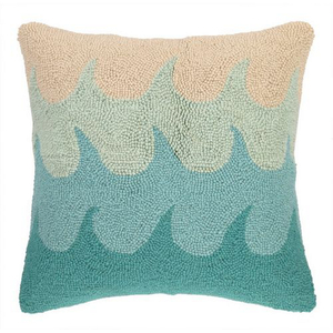 Waves Turquoise Hook Pillow