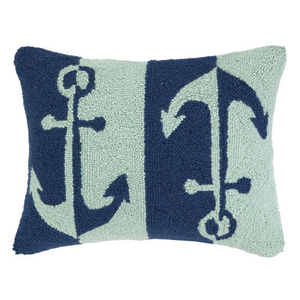 Double Colorway Anchors Hook Pillow