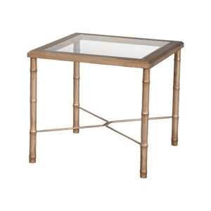 Bamboo Side Table In Champagne Gold, Champagne Gold