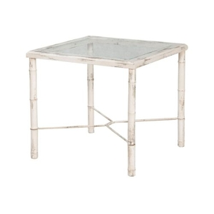 Bamboo Side Table In Crossroads European White, Crossroads European White