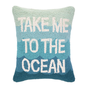 Take Me To The Ocean Hook Pillow