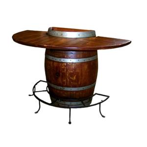 Half Barrel Bistro Table