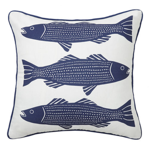 Navy Striper Pillow