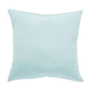 Canvas Light Blue Solid Indoor / Outdoor Throw Pillow 18 inch