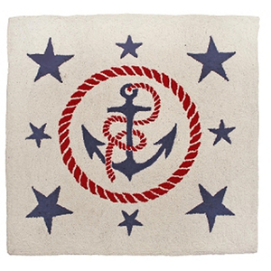 Anchors Away Hand Hook Rug