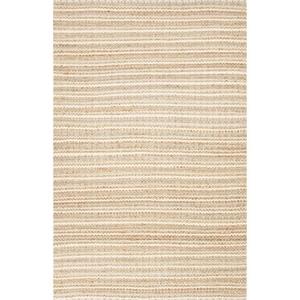 Cornwall Natural Stripe Beige / Blue Area Rug (8'  x  10')