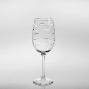 School of Fish White Wine 12oz Goblets (Set of 4)