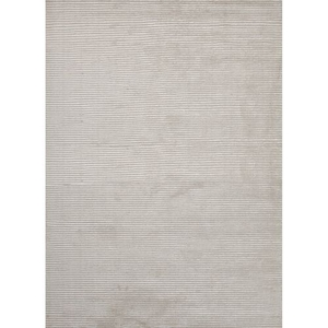 Basis Handmade Solid White Area Rug (5'  x  8')