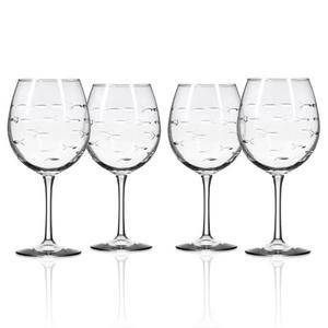 School of Fish Balloon Wine Glass 18 oz Set of 4