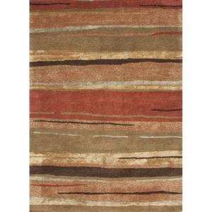 "Bernini Handmade Abstract Multicolor Area Rug (9'6""  x  13'6"")"